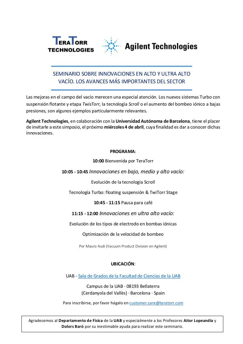 Seminario Sobre Vacío UAB