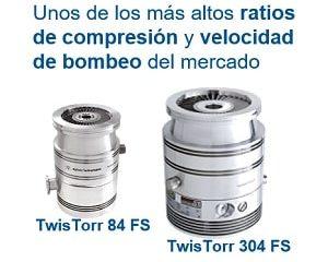TT 84 FS y TT 304 FS, bombas turbomoleculares