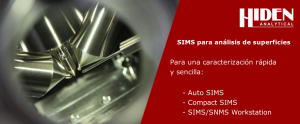 SIMS para análisis de superficies de Hiden Analytical