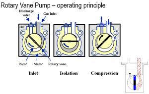 Mecanismo bomba rotatoria de paletas